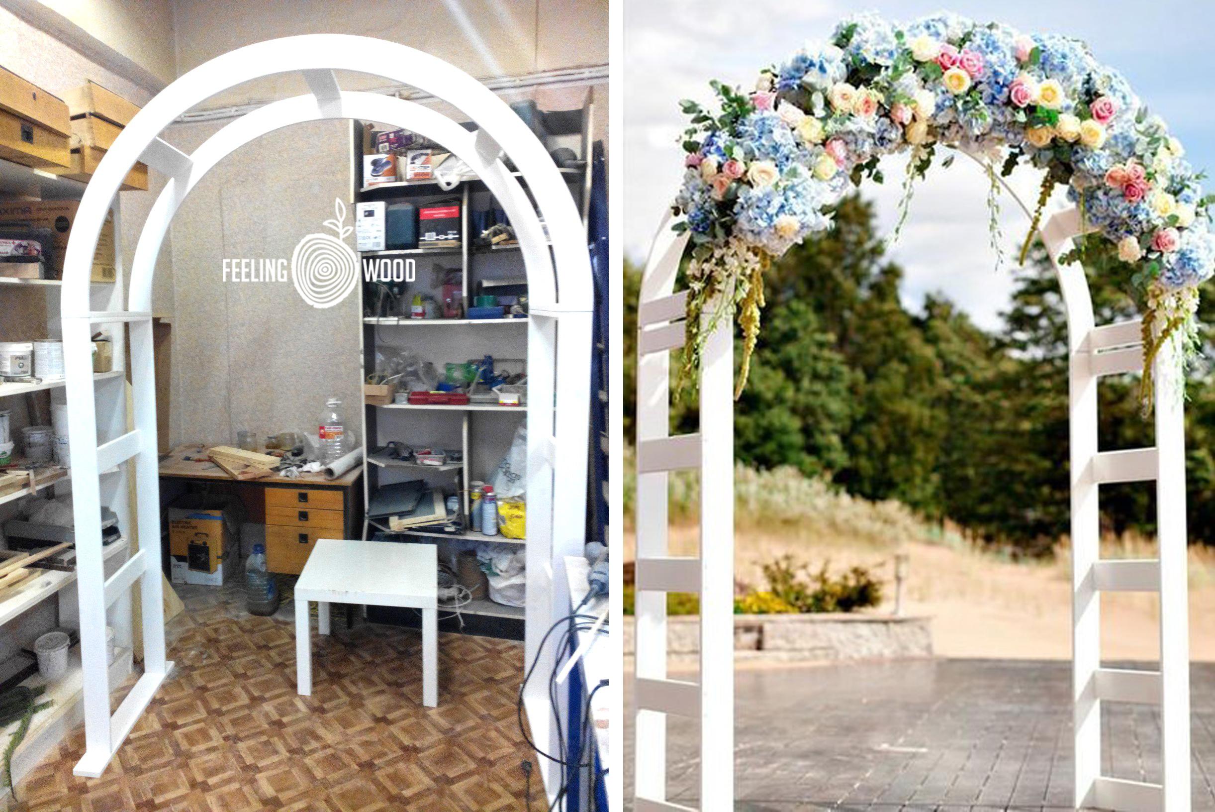 свадебная деревянная арка фото
