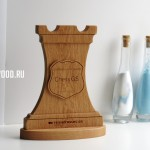 Наградная продукция из дерева: шахматная фигура-ладья от Feeling Wood