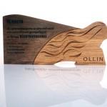 наградная продукция из дерева на заказ, награды с гравировкой для Ollin Professional от Feeling Wood