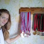 Именной держатель для медалей Полины Смоленской в академической гребле