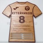 Спортивная медальница в форме футболки от Feeling Wood