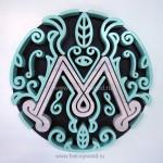 Деревянный-объемный-логотип-для-кальянной-Мята-от-Feeling-Wood